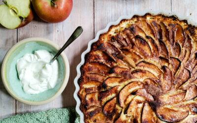 Æble kage med cremefraiche