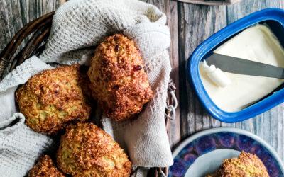 Proteinrige og fiberrige glutenfri squashboller.